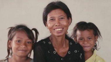 Happy family  from Cambodia — Stock Video