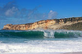 Waves at Nazare beach — Stockfoto