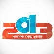 Creative colorful happy new year 2013 design. — Stock Vector