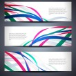 Set of abstract vector web header/banner designs in wave style. — Stock Vector
