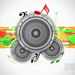 Royalty-Free Stock Vector Image: Abstract music theme modern designed background with loudspeakers.