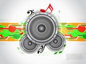 Abstrato base de música tema moderno projetado com alto-falantes. — Vetor de Stock