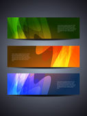 Set of abstract web header/banner designs — Stock Vector