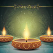 Colorful background design for diwali with beautiful lamps. — Stock Vector #14325519