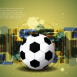 Creative football background with colorful modern design. — Stockvektor