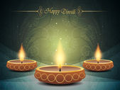Colorful background design for diwali with beautiful lamps. — Stock Vector