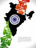 Diseño creativo bandera india. — Vector de stock