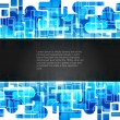 Abstract creative technology background with black banner. — 图库矢量图片