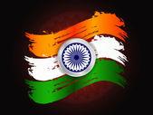 Beautiful Indian flag design — Stock Vector