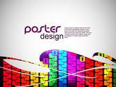 Fondo abstracto cartel con diseño colorido. — Vector de stock