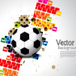 Creative football background with colorful modern design. - Stock Vector