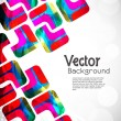 Creative abstract glowing background with colorful squares and waves — Stock Vector