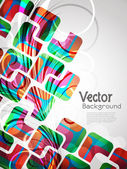 Creative abstract glowing background with colorful squares and floral — Stock Vector