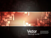 Abstract creative technology background with black banner. — Stock vektor