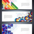 Set of abstract vector web header/banner designs — Wektor stockowy