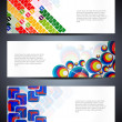 ストックベクタ: Set of abstract vector web header/banner designs