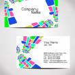 Vector business card design — Stock Vector