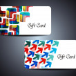 Abstract beautiful gift card design — Stok Vektör