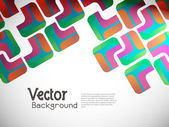 Abstract background with colorful squares poster design. — Stock Vector