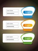 Conjunto de iconos de vector creativo login. — Vector de stock