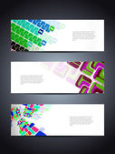 Set of abstract vector web header/banner designs — Stock Vector