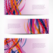 Set of abstract vector web header/banner designs — Vettoriale Stock