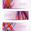 Set of abstract vector web header/banner designs — Stockvector