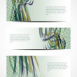 Royalty-Free Stock Vector Image: Set of abstract web header/banner designs