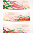 Set of abstract web header/banner designs — Vector de stock