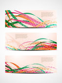 Set of abstract web header/banner designs — Vetor de Stock