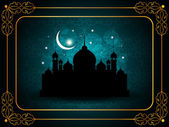Abstract religious eid background with mosque. — Stock Vector
