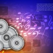 Abstract music theme modern designed background with loudspeakers. - Stock Vector