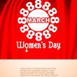 Beautiful women's day background. — Stok Vektör