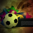Colorful football background. — 图库矢量图片