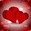 Beautiful Valentine's Day background. — 图库矢量图片