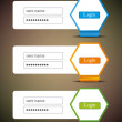 Set of vector login icons - Stock Vector