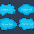 Set of creative speech bubbles — Imagen vectorial
