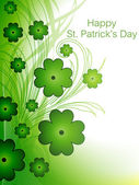St. Patrick's day background with Clover and floral — Vecteur