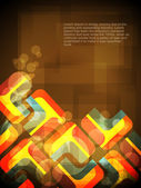 Creative abstract glowing background with colorful squares. — Stock Vector