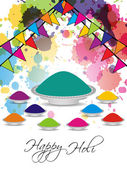 Beautiful background for indian holi festival — Stock Vector