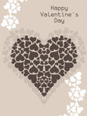 Beautiful Valentine's Day background. — Stock Vector