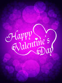 Beautiful valentine's day design on red background. — Vector de stock