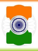 Creatieve indiase vlag ontwerpen. — Stockvector