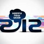 yaratıcı mutlu yeni yıl 2012 tasarım — Stok Vektör