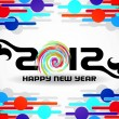 Creative happy new year 2012 design. — Vector de stock