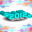 Creative happy new year 2012 design. — 图库矢量图片