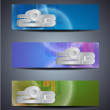 Stockvektor : Set of abstract web header/banner designs for 2013