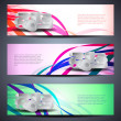 Set of abstract vector web header/banner designs for 2013 — Stok Vektör