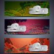 Vector de stock : Set of abstract vector web header/banner designs for 2013