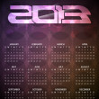 Stock Vector: Beautiful calendar design for 2013